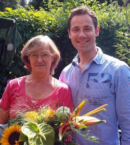 Geschäftsführer Christopher Krähnert besuchte Kristina und gratulierte persönlich