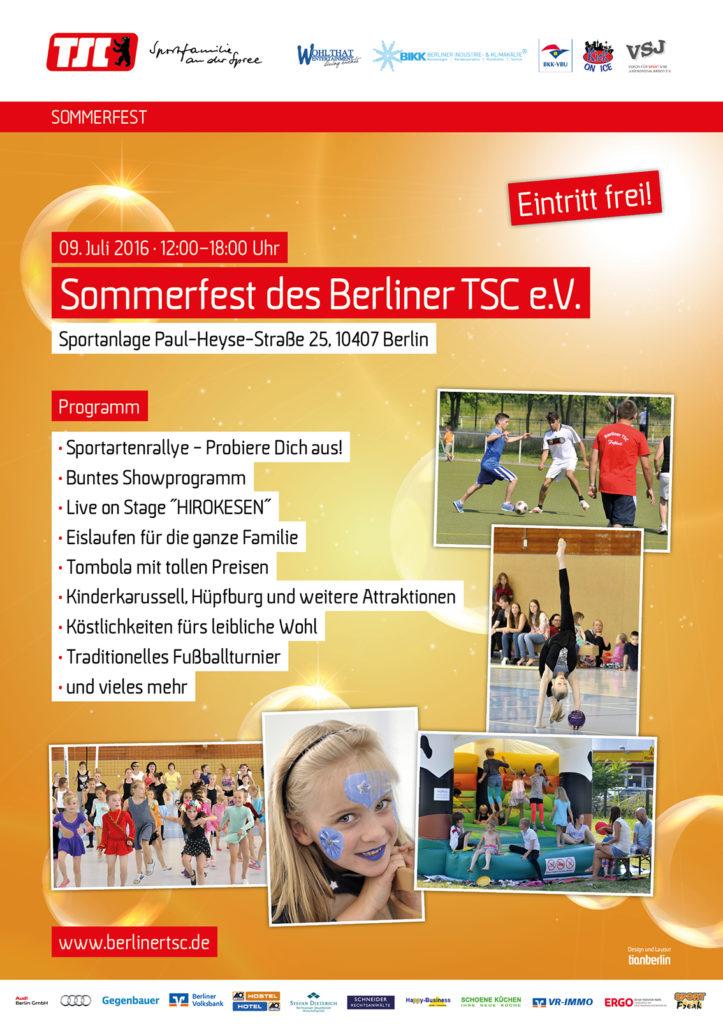 2016-06-09 BTSC Sommerfest 2016 Plakat