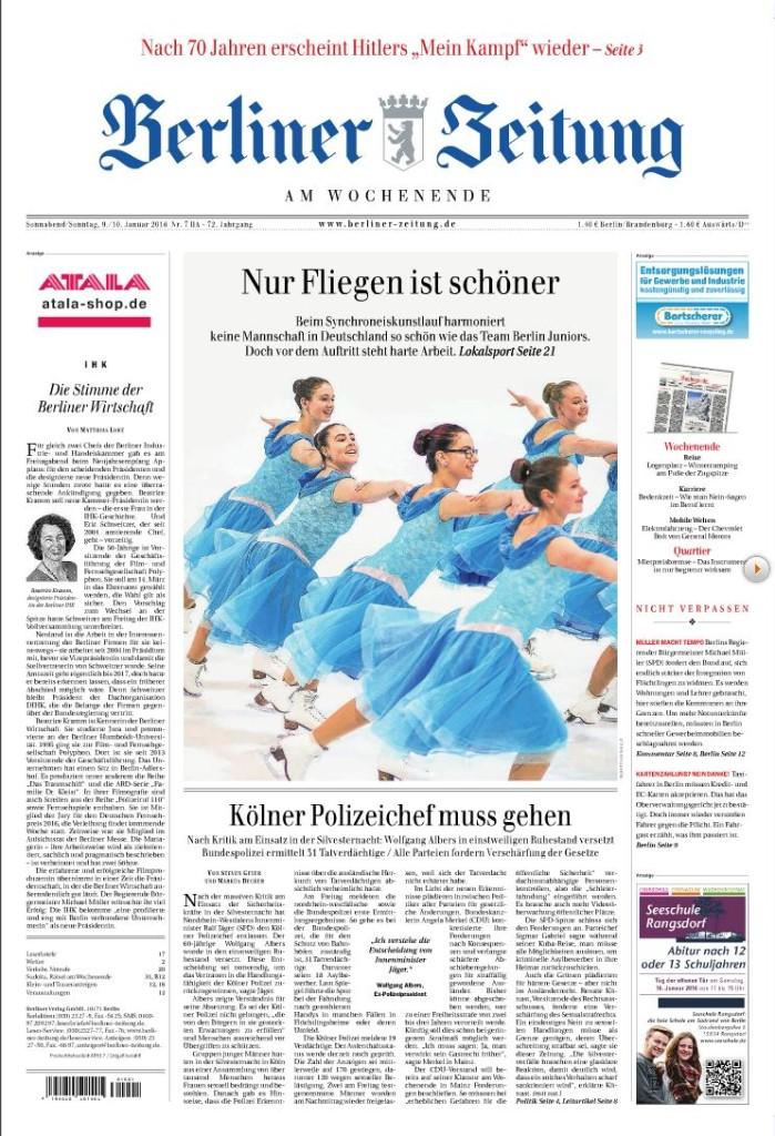 Titelblatt Berliner Zeitung